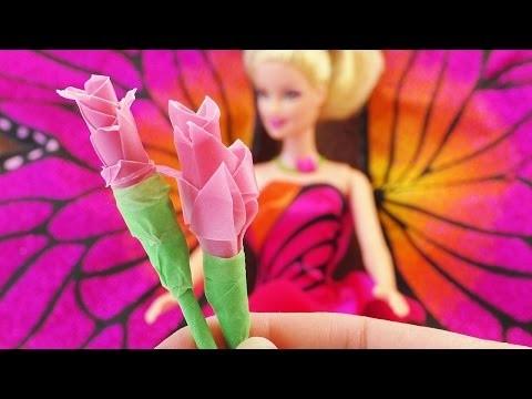 Barbie Rose selber basteln Deutsch   DIY Barbie Spielzeuge   Basteln mit Papier