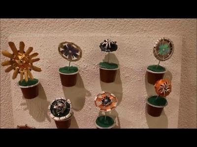 DIY: Mini Kapselgarten Blumenwand Minigarten aus Nespresso Kapseln. Upcycling
