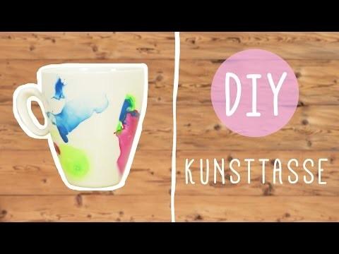 DIY mit Nina: abstrakte Kunsttasse