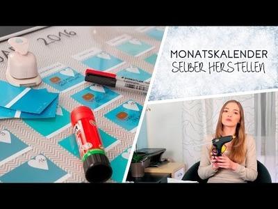 DIY: Monatskalender selber machen mit Farbkarten