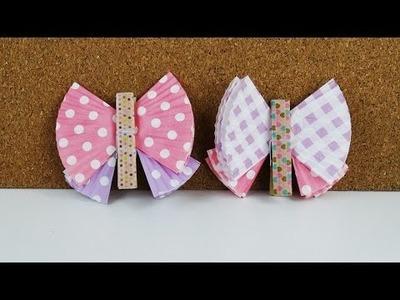 DIY Schmetterlinge aus Muffinpapier selber machen Deutsch - Bunte Schmetterlinge falten