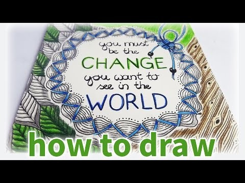 DIY Tutorial ♥ Speed Drawing ♥ Colorful Zentangle | Motivational Saying