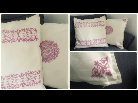 Textilfarbe auf Kissen * Fabric Paint DIY [eng sub]
