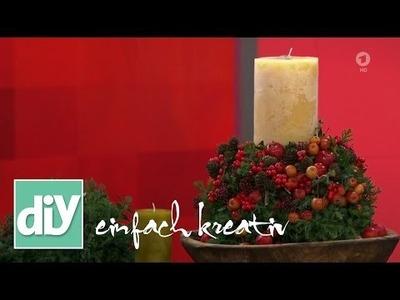 Adventliches Kuppelgesteck | DIY einfach kreativ