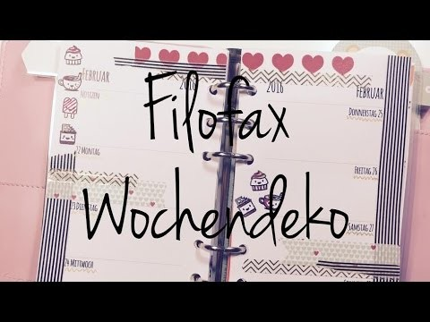 DIY ---Wochendeko---Planer---KW08   Filofax [ tutorial   Vlog]^^