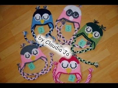 Eulenmütze häkeln - Mütze - Kindermütze - Tiermütze - Uhu - Eule - crochet