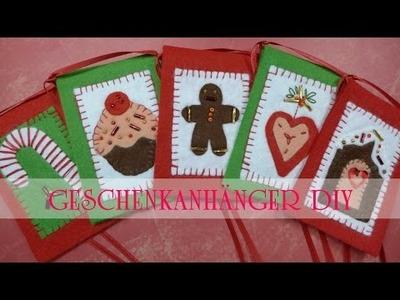 Geschenkanhänger aus Filz zu Weihnachten basteln DIY