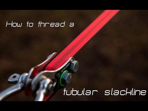 How to thread a tubular slackline (DIY)