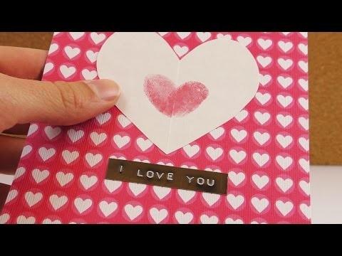 Persönliche DIY Karte für Valentinstag   Karte mit viel  ♥ für die Liebsten   einfach & schnell