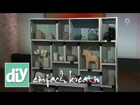Vintage-Regal aus Allzweckkisten   DIY einfach kreativ