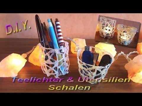 *** DIY 3D KÖRBCHEN. TEELICHTHALTER .  - mit Tini ***