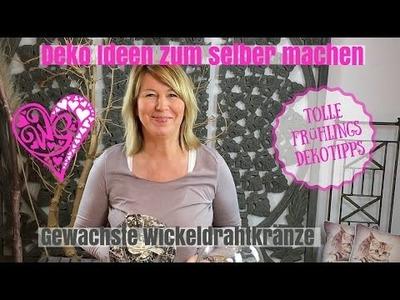 DIY-Deko Ideen zum selber machen - kreative Wickeldrahtkränzchen - von Imke Riedebusch