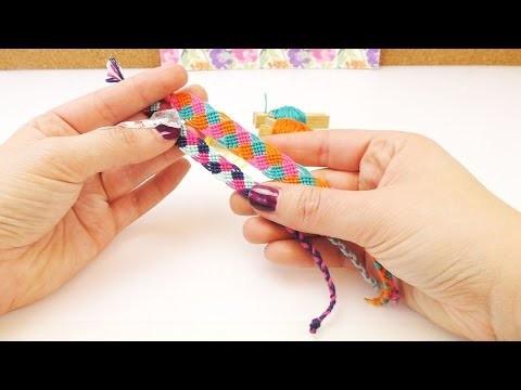 DIY Freundschaftsarmband knüpfen   Knüpfarmband in Flechtoptik selber machen   Geschenk für Freunde