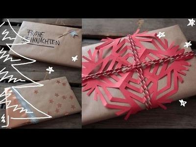 DIY Geschenke verpacken - weihnachtliche und schnelle Deko