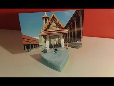 DIY Muttertag Geschenk Fotohalter Herz Form aus Beton machen. Gips Deko selber gießen