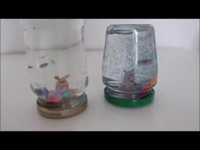 DIY: Schneekugel Schüttelkugel Mitbringsel Glücksbringer Silvester basteln