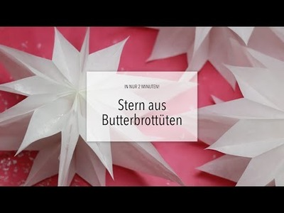 DIY: Wunderschöner Papierstern in 2 Minuten! | Zeit für FREI!