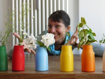 Bastelanleitung für Bunte Vasen DIY