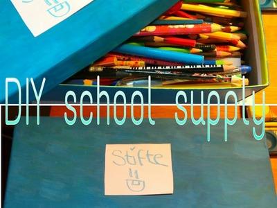 DIY school supply -Stiftebox