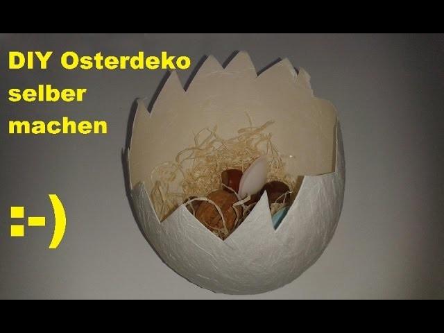 DIY  Schöne Osterei Deko Schalen einfach selber machen. Osterdeko Schale selbst basteln