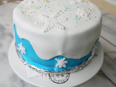 DIY Torte dekorieren mit Fondant - selber machen Frozen Cake Elsa Torte .