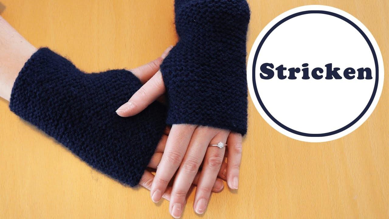 Einfachste Stulpen der Welt | stricken für Anfänger | DIY | stricken lernen