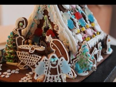 Zuckerhäuschen.Lebkuchenhaus.Knusperhaus - how to build a gingerbread house