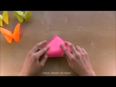 Basteln Origami Schmetterling falten Basteln mit Papier DIY Home made Paper Hoby