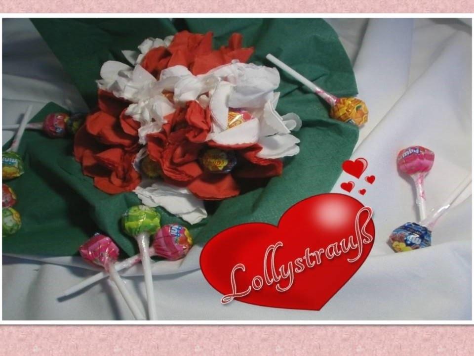 DIY - Lollyblumenstrauß I Valentinstag #1