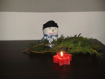 DIY Schneemann aus Gips oder Beton gießen – Weihnachtsdeko selber machen. Anleitung – Tutorial