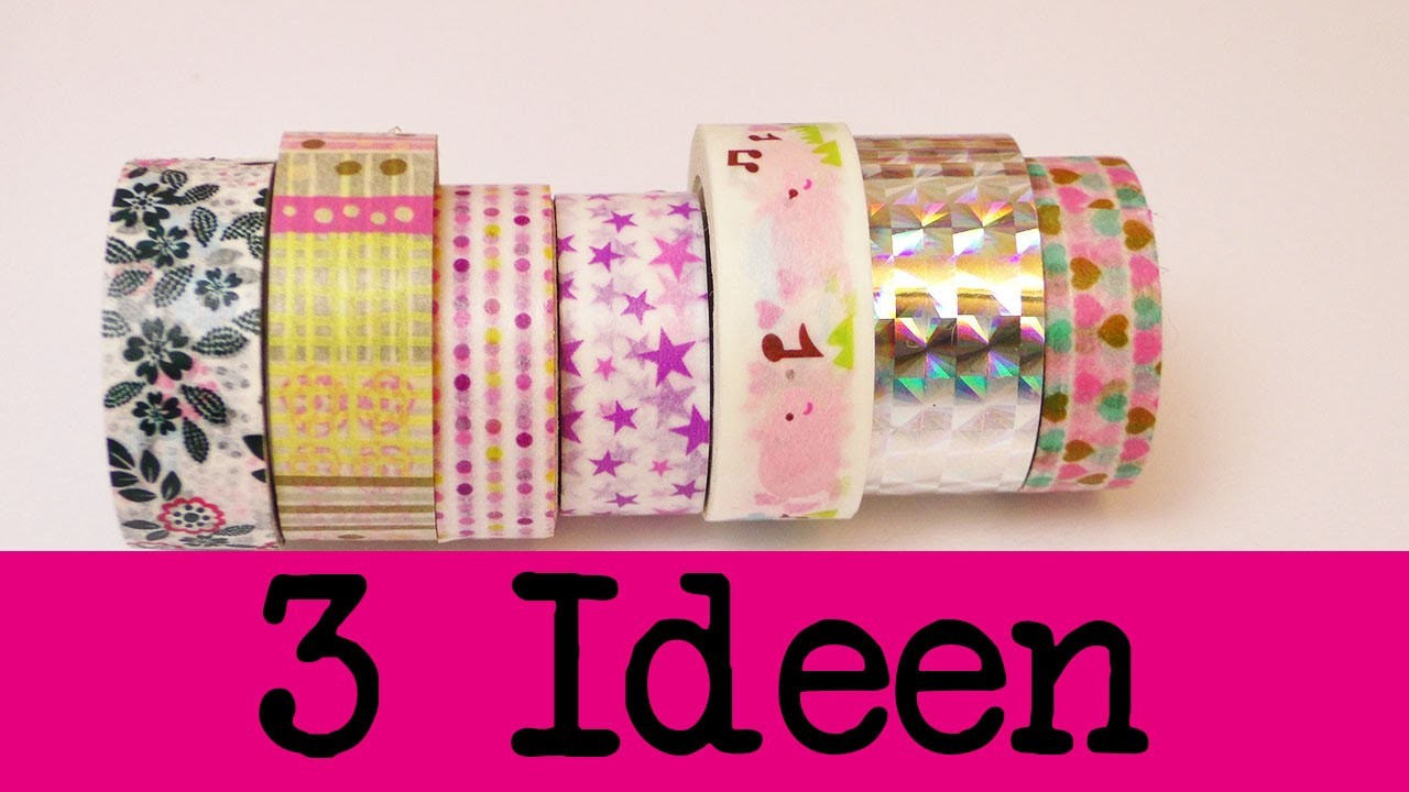 DIY Inspiration Challenge #39 Washitape 3 Ideen   Evas Challenge   Tutorial - Do it yourself HD