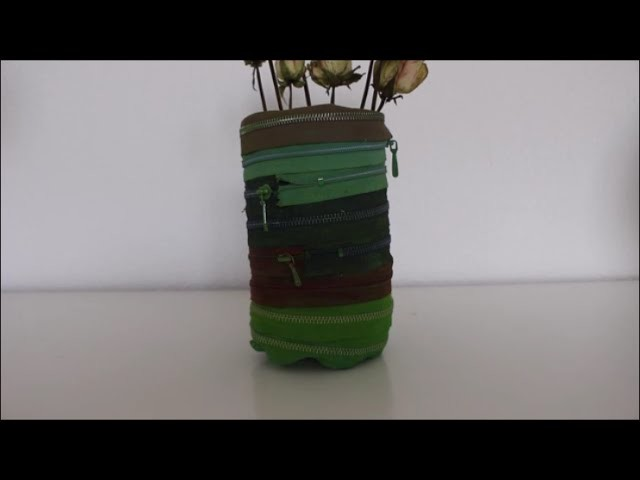 DIY: Upcycling Reissverschluss Vase basteln