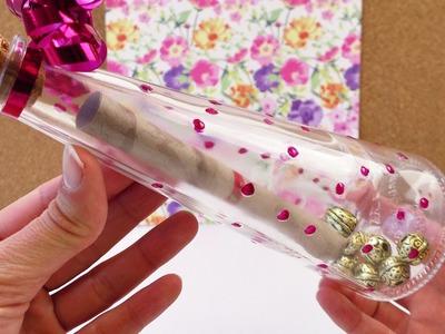 Süße Geschenkidee Flaschenpost mit Gutschein | Post in einer Vase mit Korken | DIY