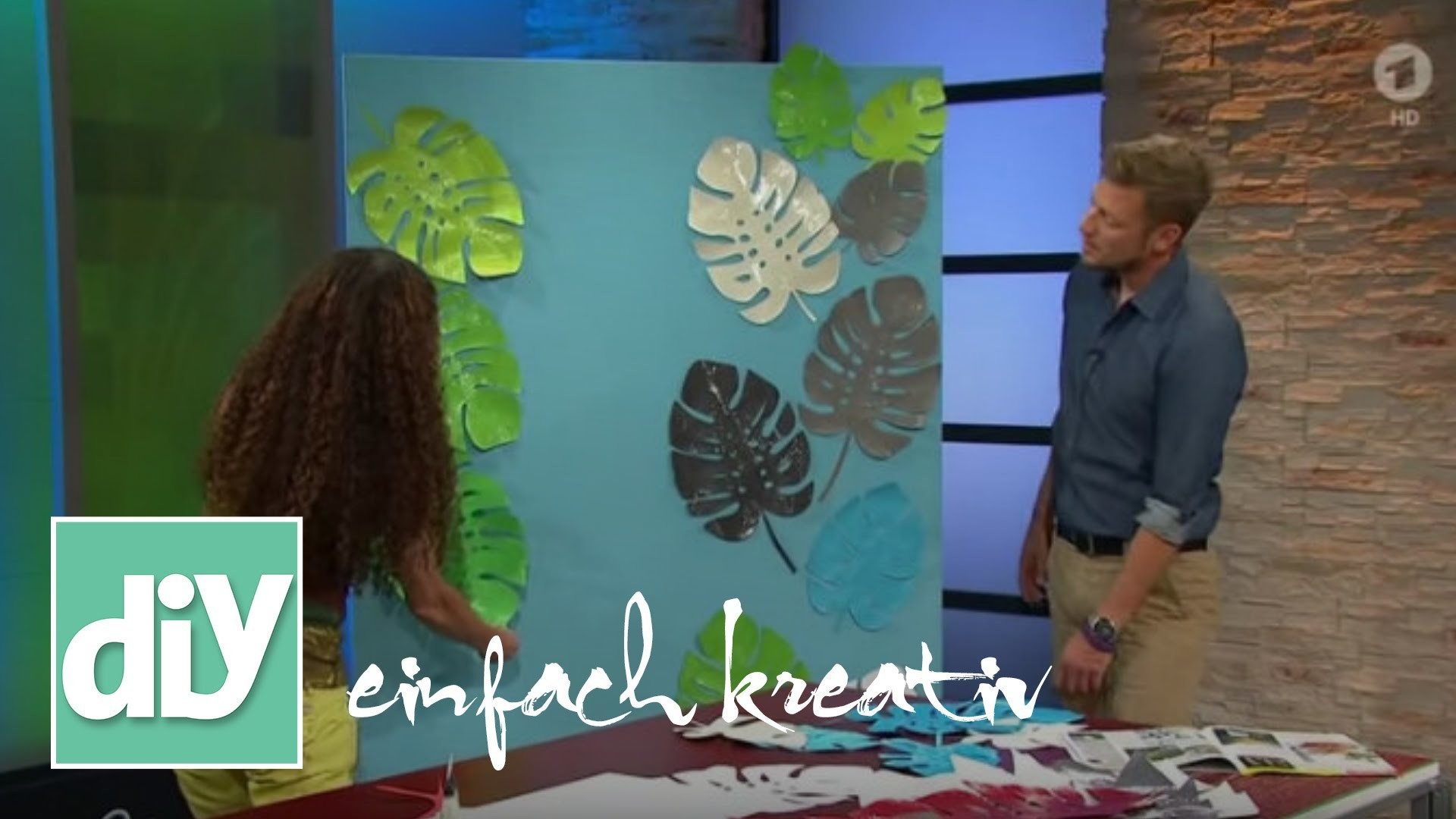 Wanddekoration 3D-Blatt | DIY einfach kreativ