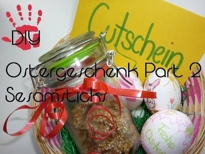 DIY- Ostergeschenk Part 2 Sesamsticks Rezeptidee für Osterkörbchen