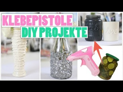 DIY PROJEKTE mit KLEBEPISTOLE | MASON JAR AUS GURKENGLAS! | Kisu