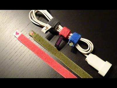 DaIsY´s DIY - dekorative Kabelbinder in 2 Minuten nähen
