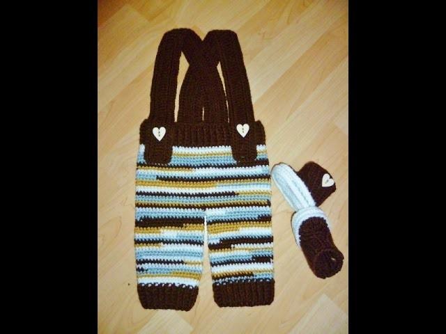 Babyhose Trägerhose Latzhose Hose Häkeln Crochet Trousers