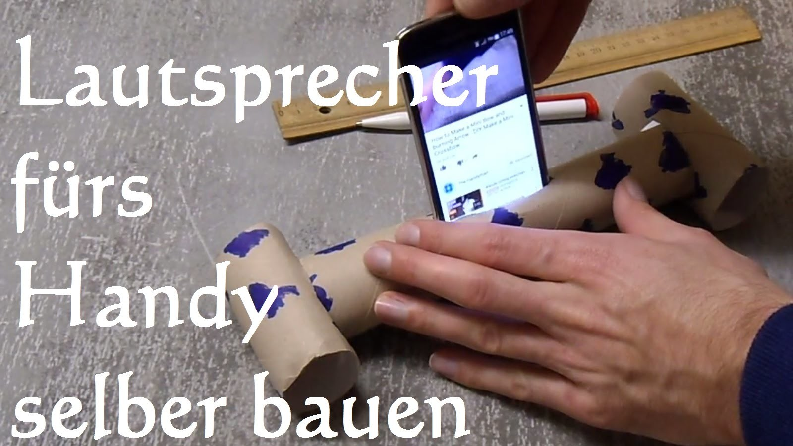 DIY Handy Smartphone Phone Lautsprecher in 2 min selber machen bauen