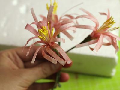 Einfache Blumen aus Esspapier.Reispapier. Wafer Paper Flowers. Tortendekoration