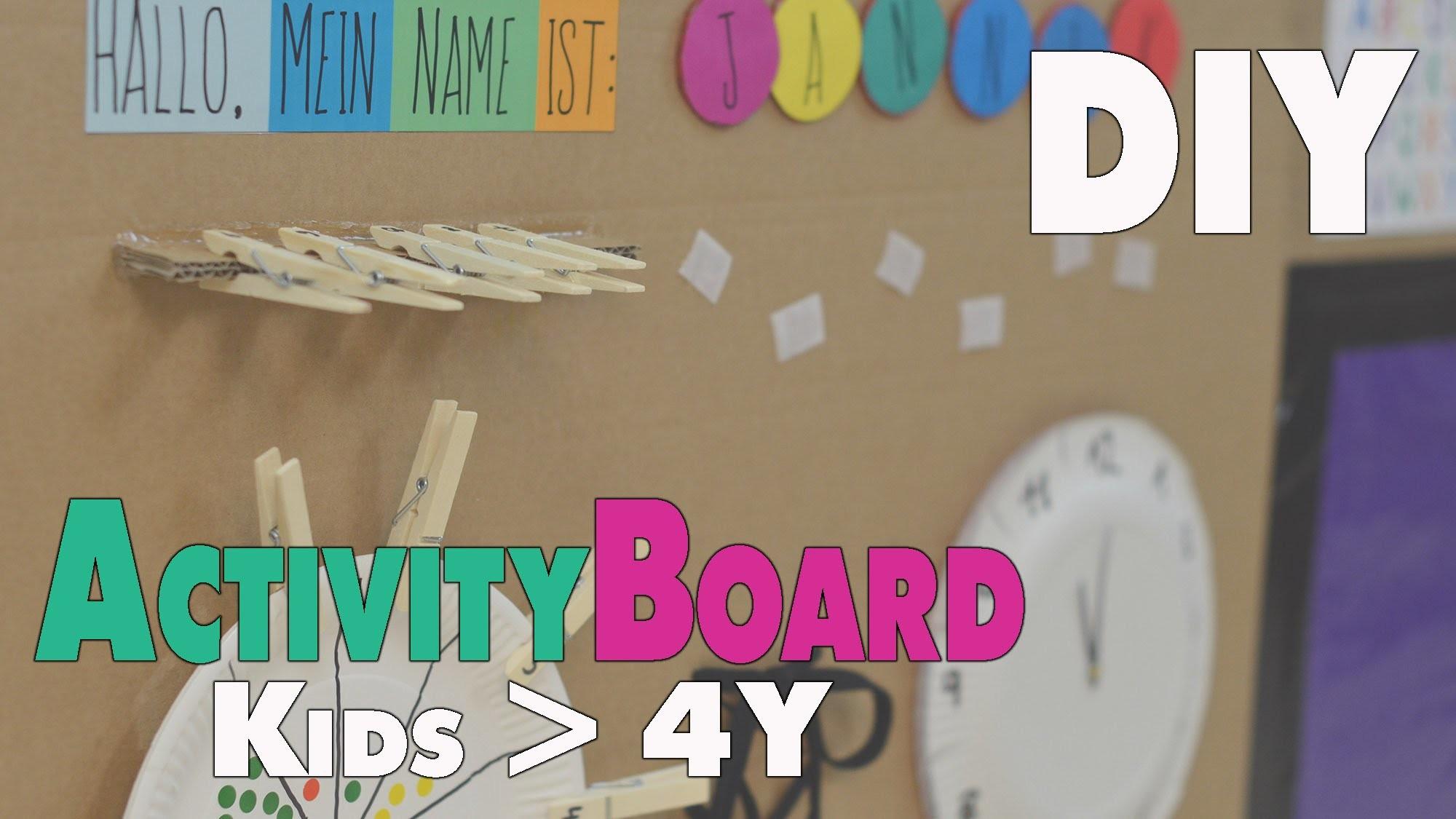 DIY Activity Board   Ideen für Kinder ab 4-5 Jahren   mamiblock - Der Mami Blog