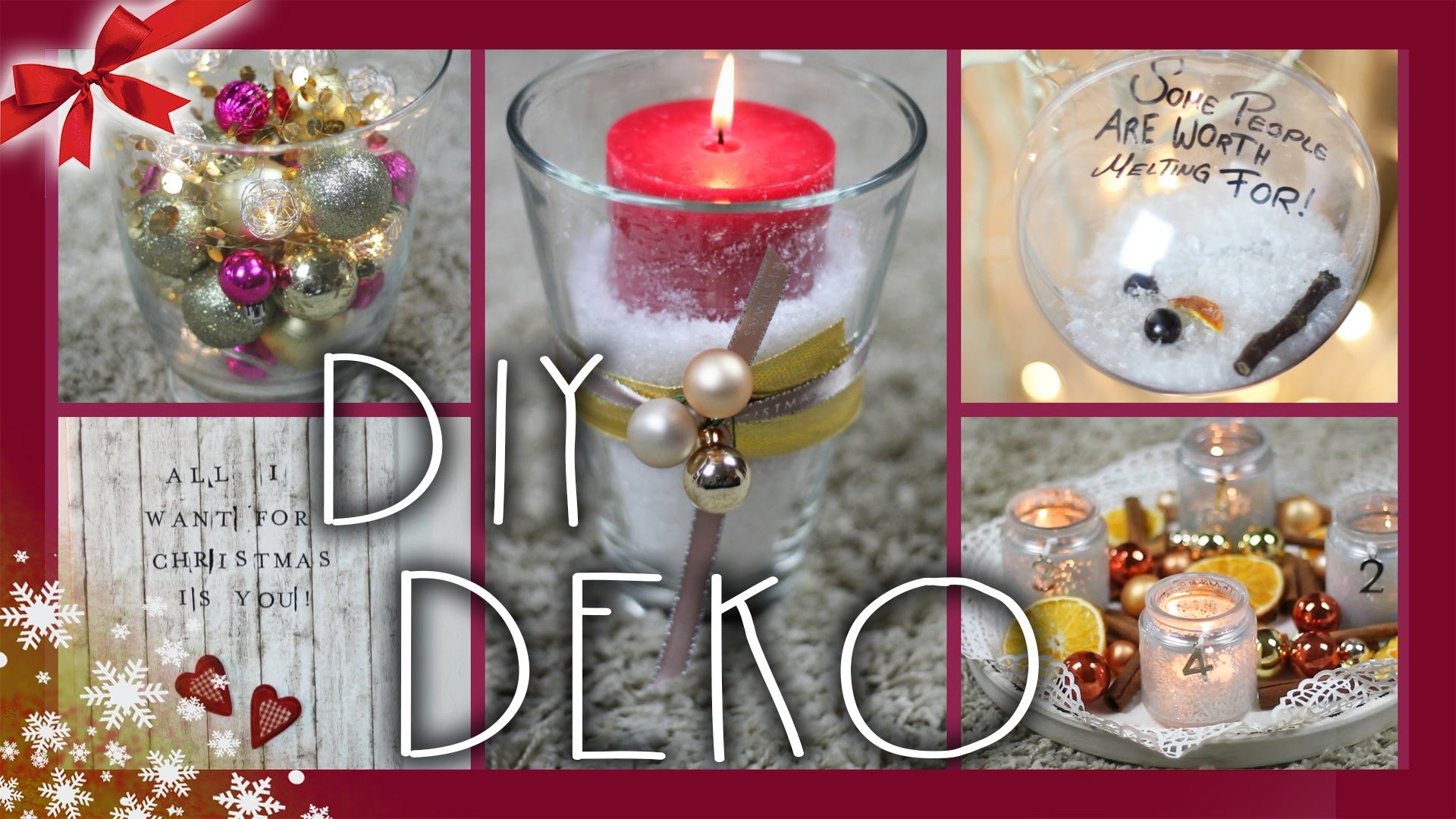 DIY LAST MINUTE DEKO - Ideen & Inspirationen | #ChristmasCountdown