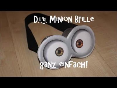 DIY Minion Brille  (minion goggles) - sehr einfach!
