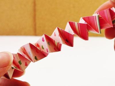 Hexentreppe falten und selber machen aus Papierstreifen | DIY Kids | Bastelideen