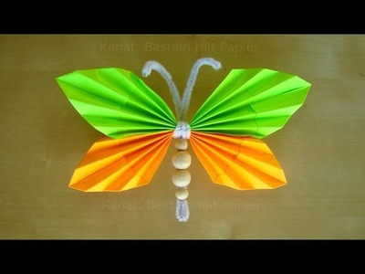 Schmetterlinge basteln mit Papier - Osterbasteln mit Kindern - DIY Basteln Ostern