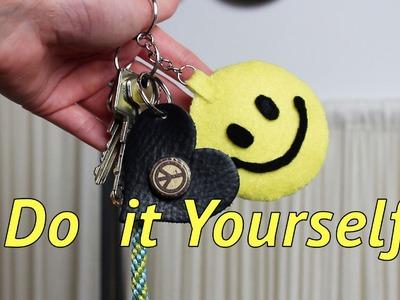 Smiley Schlüsselanhänger DIY *mit Hand nähen* Do it Yourself