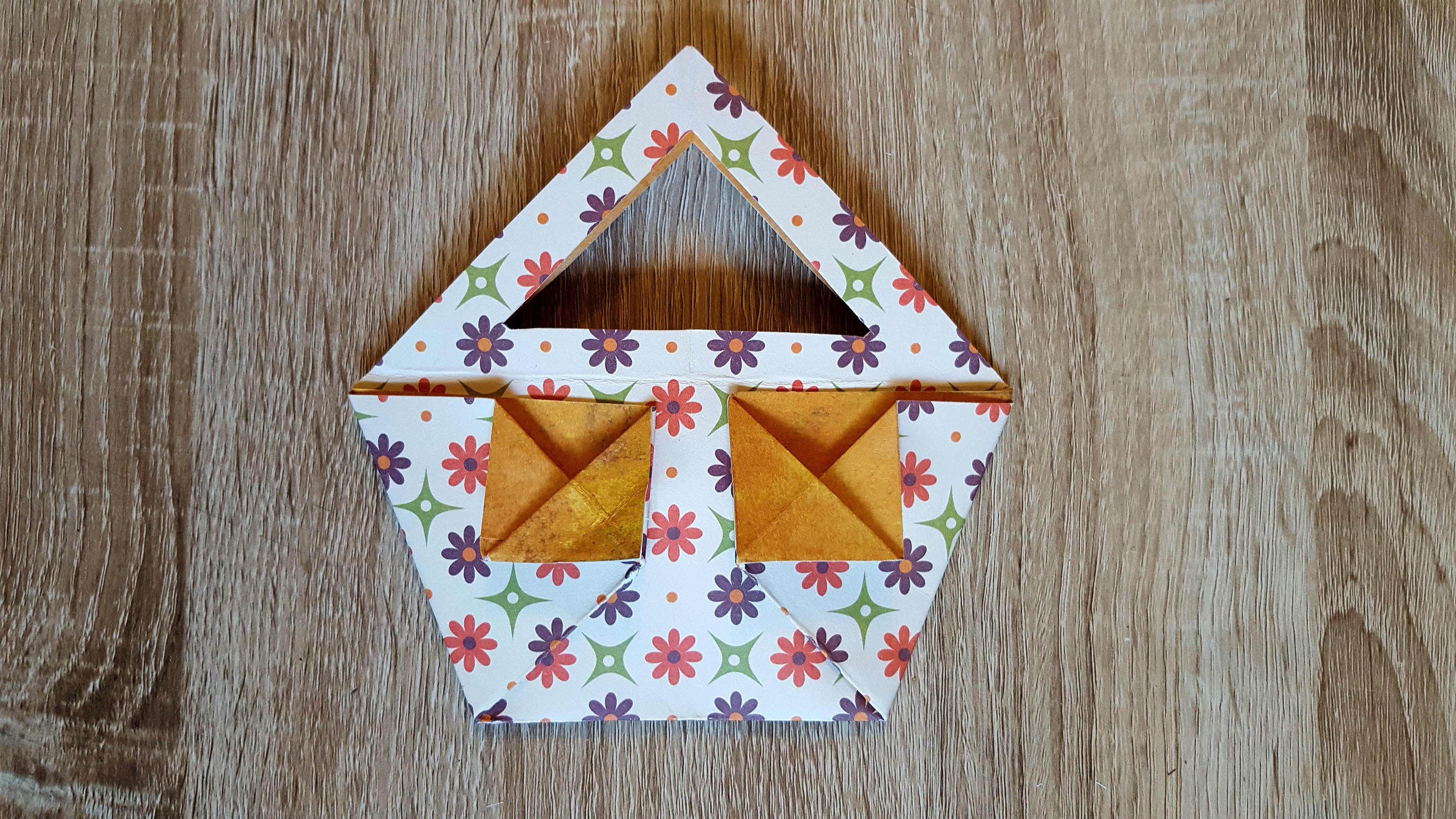 Origami Tasche falten. DIY-Origami Bag