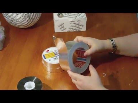 DIY - Anleitung - metal tape art- Alu Tape - Werkzeuge und Materialien