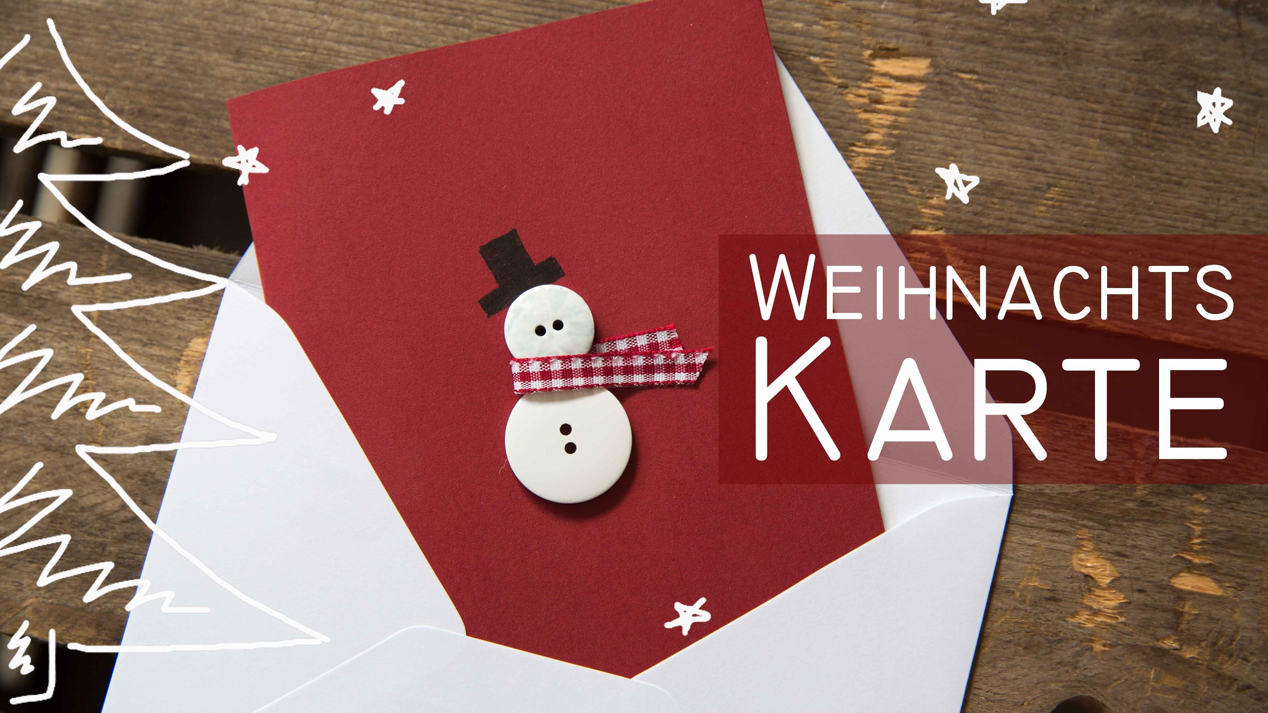DIY Weihnachtskarte Schneemann - kekulo christmas