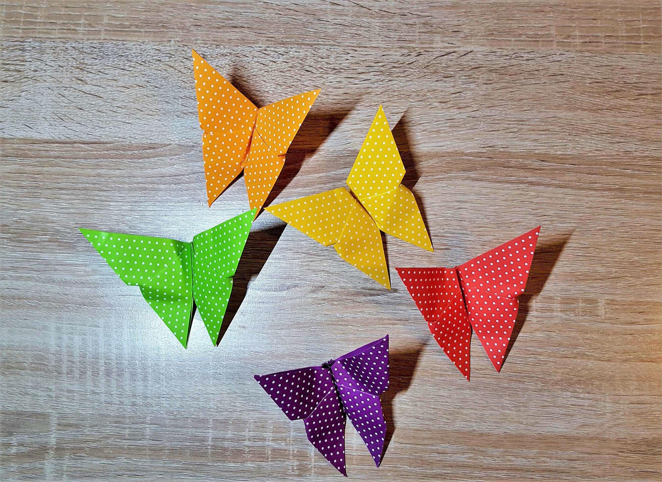 origami schmetterling der einfache klassiker diy origami butterfly. Black Bedroom Furniture Sets. Home Design Ideas